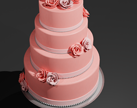 Wedding Cake 3D model low-poly