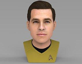 Captain Kirk Chris Pine Star Trek bust full color 3D