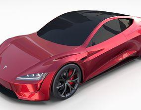 Tesla Roadster 2020 3D model interior