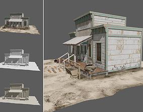 3D asset VR / AR ready Western House