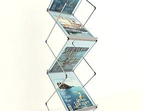 Folding Brochure Stand 3D set