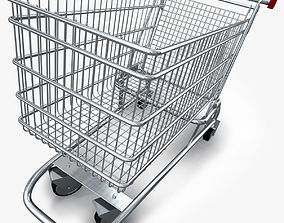 3D model Realistic Shopping cart