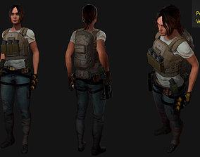 Female Australian military 3D asset