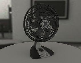 Generic black fan 3D model