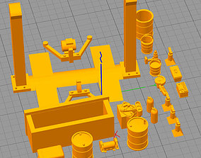 3D printable model KIT 1 TALLER GARAGE MECANICO