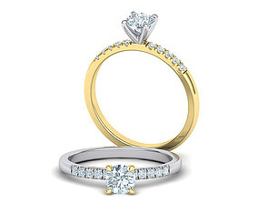 Classic Engagement ring Four-prong head with 5mm stone