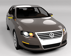 VW VOLSWAGEN PASSAT B6 LOWPOLY 3D model