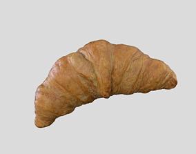 VR / AR ready Croissant Bread 3D model Photoscan