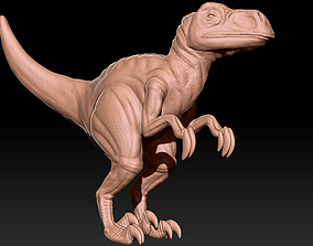 Stylized Raptor 3D print model