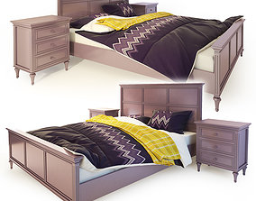 3D model Double bed purple Riverdi