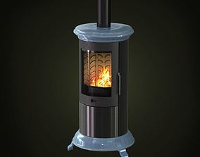 3D Cylindrical Fireplace