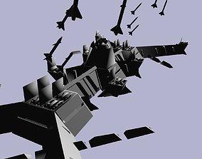 Missile defense system 3D model