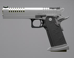 firearm 3D model Pistol Gun