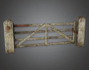 3D asset GFS - Outdoor Gate 06 - PBR Game Ready
