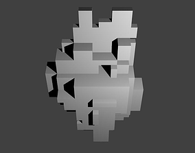 3D printable model Voxel Wall Hanging No 1