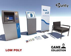 Bank Props Collection 1 3D asset