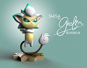 Shisa from League of Legends - Star 3D print model 2