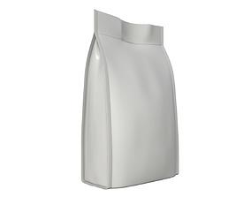 Blank Pet Food Foil Pouch Bag Mock Up 04 3D model