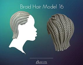 3D print model Braid Hairstyle 16