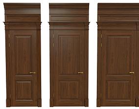 3D model Classic wooden door 01