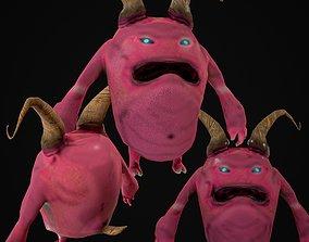 3D asset cartoon Demon