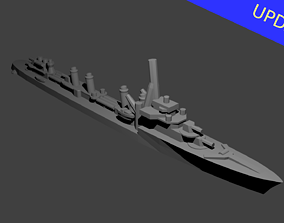 French Guepard Class Destroyer Warship 3D printable model