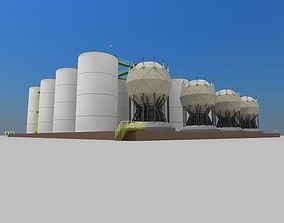 diesel Factory Oil Tanks 3D