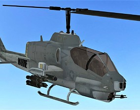FLY Game-Ready 01 - Helicopter 3D model