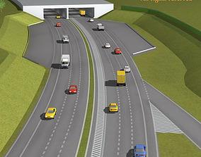 Highway scene 3D model