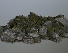 mountain rocks 3D model low-poly