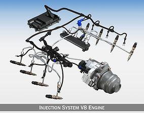3D Injection System of a V8 engine
