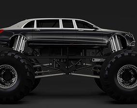 3D Monster Truck Mercedes Maybach S 650 Pullman