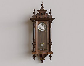 Antique Pendulum Wall Clock 3D
