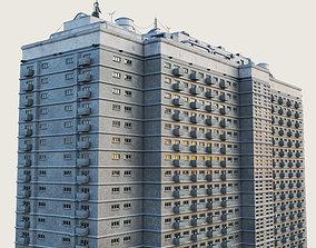 3D asset Building Skyscraper City Town Downtown 3