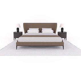 Model Set 03 Gentleman Bed Poliform Night Table Torso 3D 2
