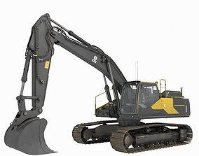 3D model Excavator tractor