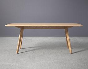 Slab Dining Table 3D