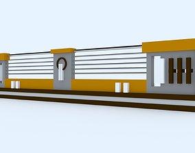 3D Railing realtime parapet