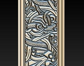 Decorative basorelief with picture frame for CNC 3D
