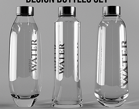 Design Bottle Set 3D model