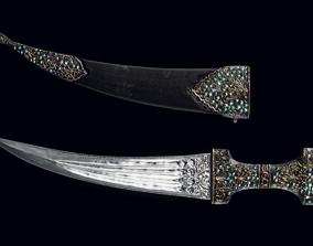 3D model ancient indian dagger