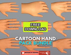 Character - Cartoon Hand Pack Bundle 3D asset PBR