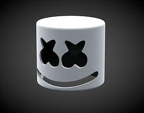 Marshmello Mask 3D printable model
