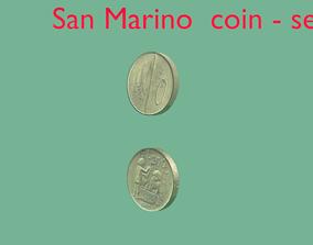 3D San Marino coin - set model