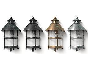vintage 3D model Antique Outdoor Lamp