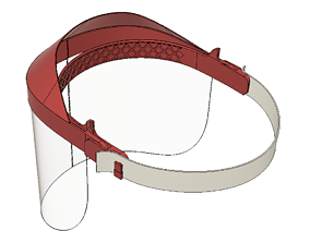 3D printable model Covid mask protective shield
