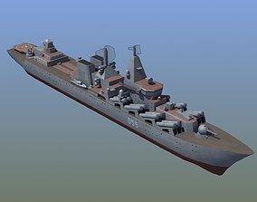 Slava Class Cruiser 3D asset