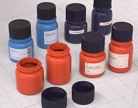 3D asset realtime Laboratory Diagnostic Bottles