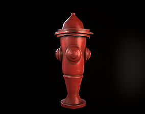 Fire Hydrant street 3D asset VR / AR ready PBR