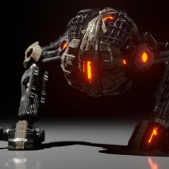 Sci Fi Military Bot